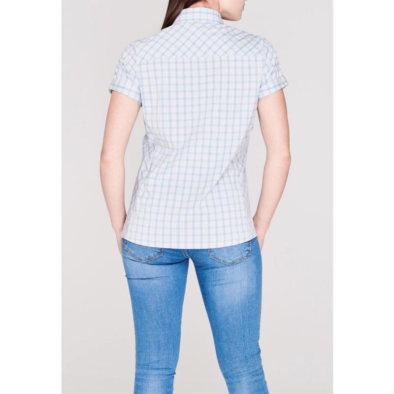 Košile Eastern Mountain Sports Journey Plaid Short Sleeve Shirt Ladies Hydro Plaid