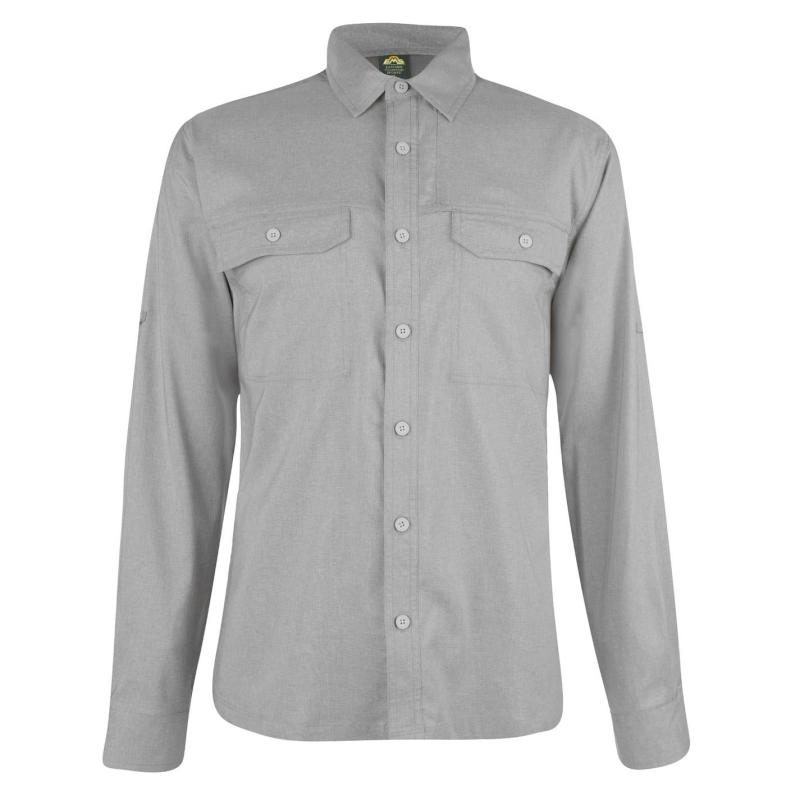 Eastern Mountain Sports Ventilator Long Sleeve Shirt Mens Silver Filigree