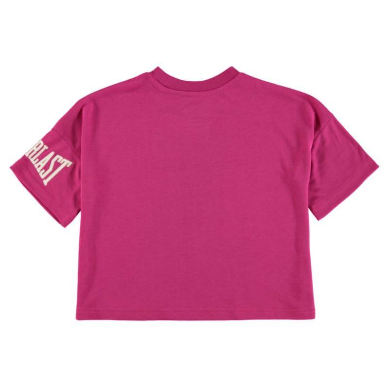 Everlast Boxy T Shirt Junior Girls Berry