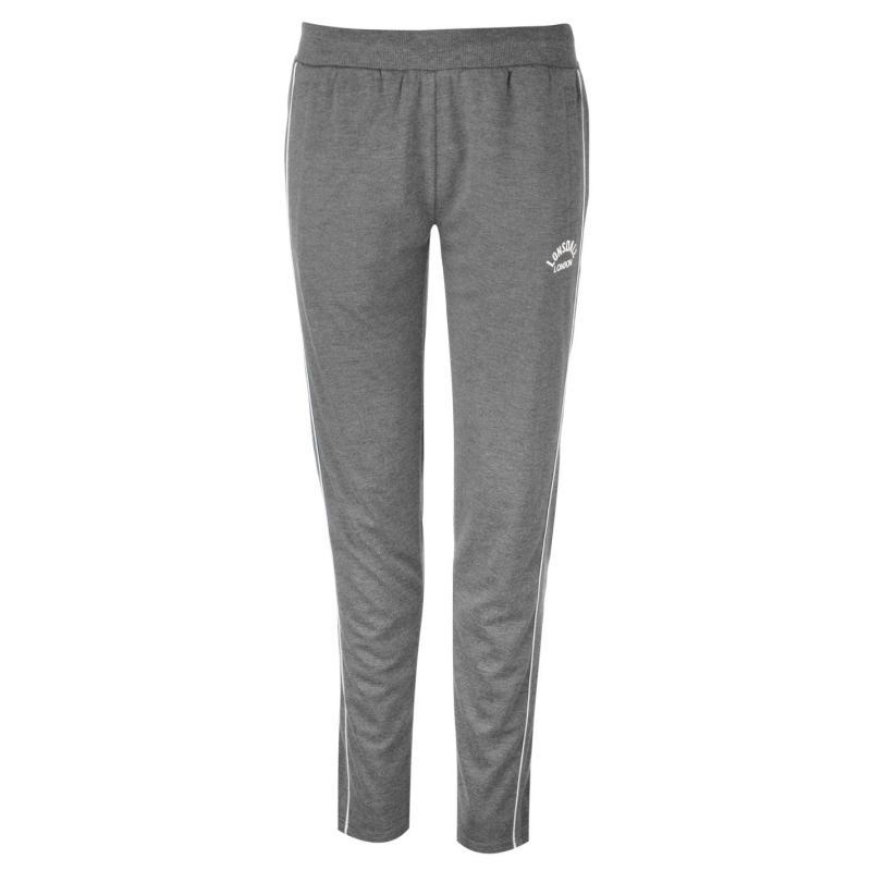 Sportovní kalhoty Lonsdale Interlock Jogging Pants Ladies Charcoal Marl