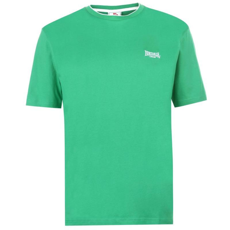 Tričko Lonsdale Tipped Tee Mens Bright Green