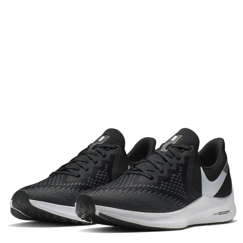 Nike Air Zoom Winflo 6 Mens Running Shoes Black/White