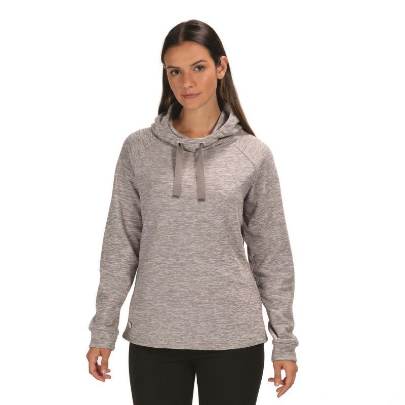 Regatta Calandra Microfleece Hooded Sweatshirt Ladies Rock Grey