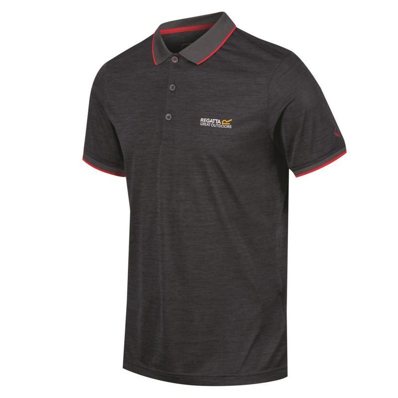 Regatta Remex Polo Shirt Mens Seal Grey
