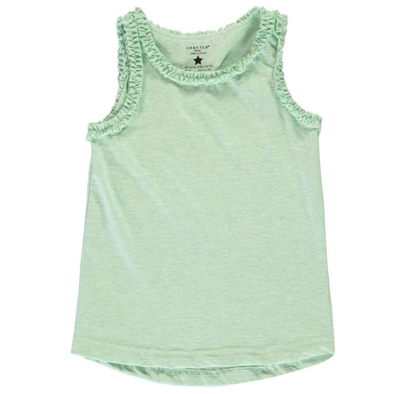Crafted 2 Piece Jersey Vests Infant Girls Rainbow Mint