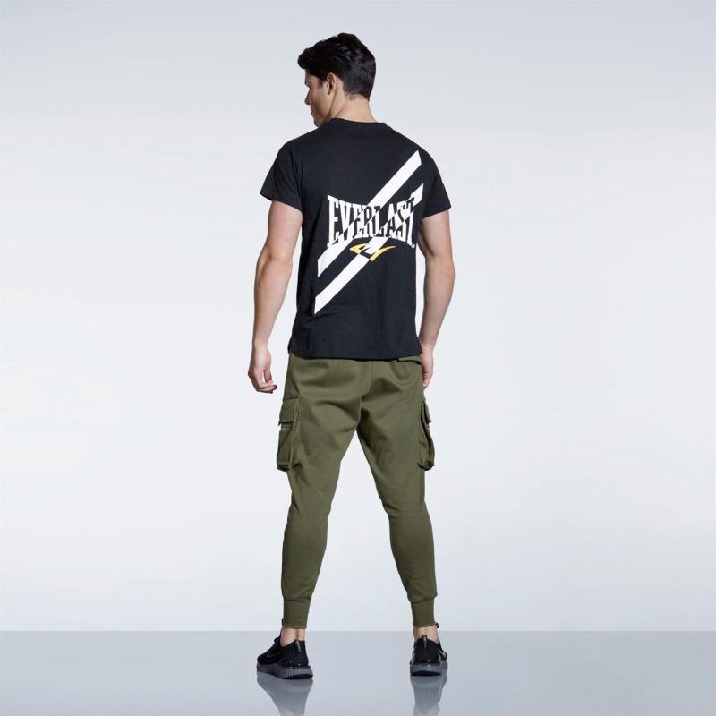 Tričko Everlast Everlast Graphic T Shirt Mens Black