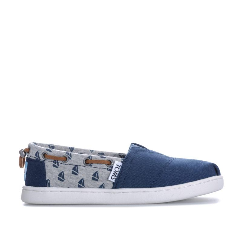 Boty Toms Junior Boys Sailboat Espadrille Shoes Navy