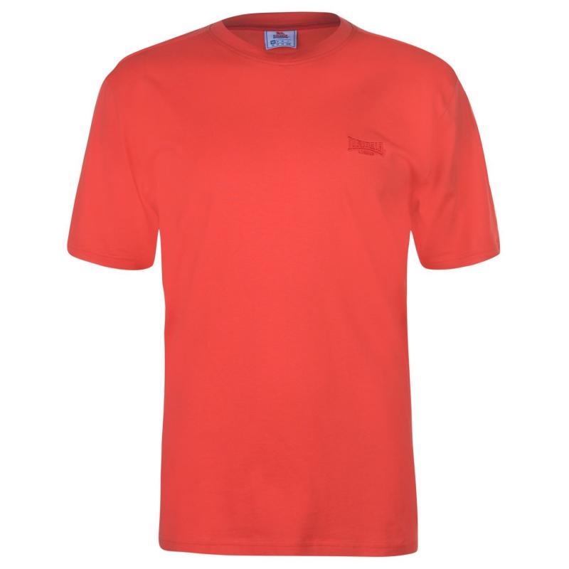 Tričko Lonsdale Plain Tee Mens Poppy Red