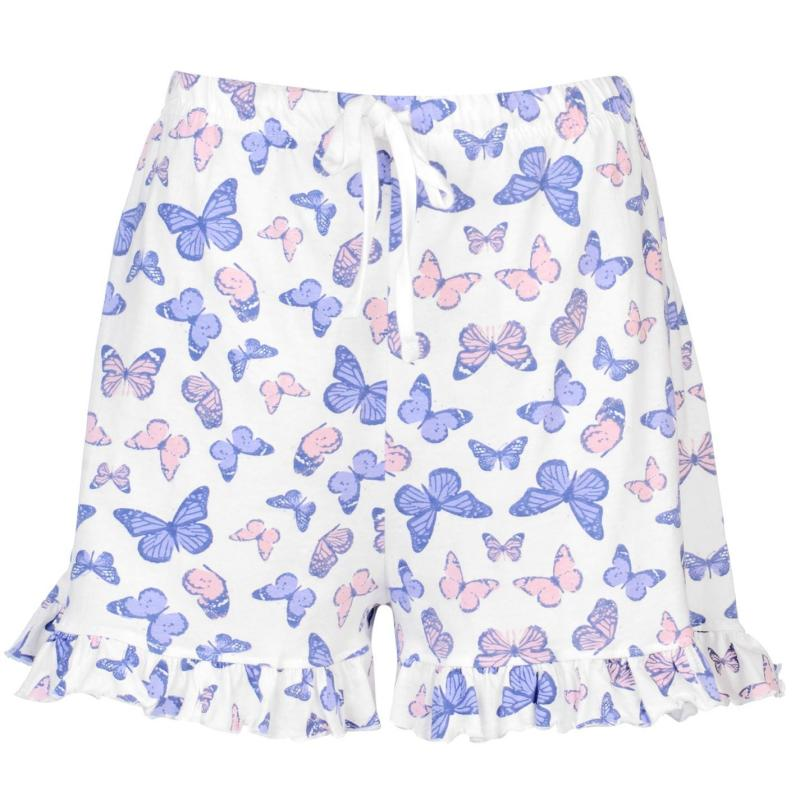 Pyžama Rock and Rags Womens Butterfly Shorts Pyjama Set Butterfly