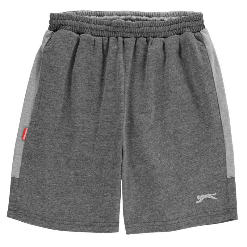 Kraťasy Slazenger Jersey Shorts Junior Boys Grey Marl