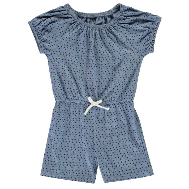 Crafted Jersey Playsuit Infant Girls Mint Marl
