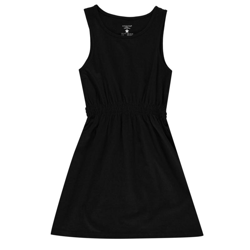 Šaty Crafted Junior Girls Jersey Dress Black Marl