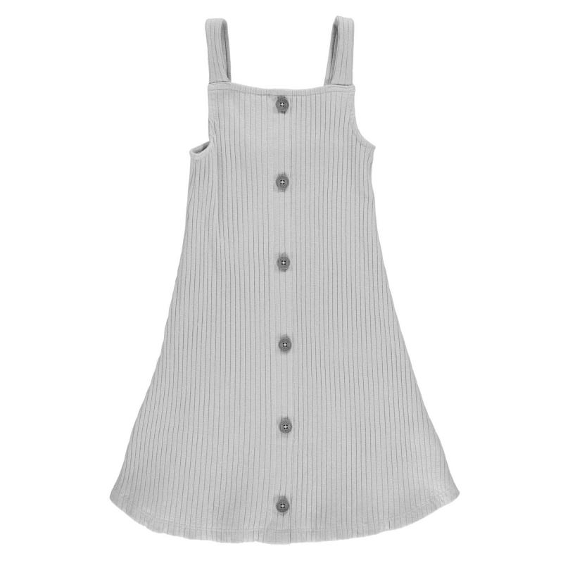 Šaty Firetrap Rib Dress Junior Girls Cloud Grey