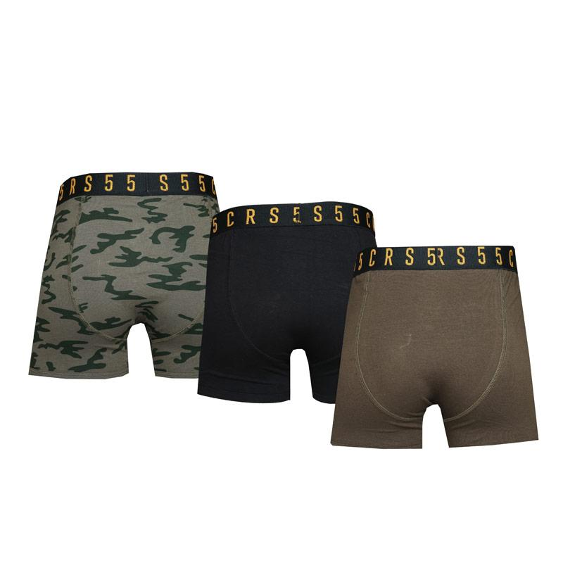 Spodní prádlo Crosshatch Mens 3 Pack Rhossili Boxer Shorts Green