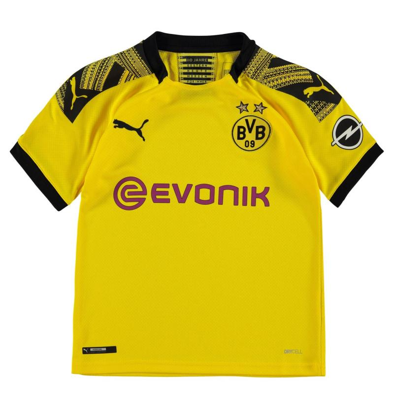 Puma Borussia Dortmund Home Shirt 2019 2020 Junior Yellow/Black