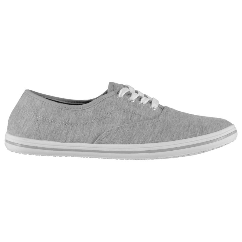 Slazenger Ladies Canvas Pumps Grey Marl