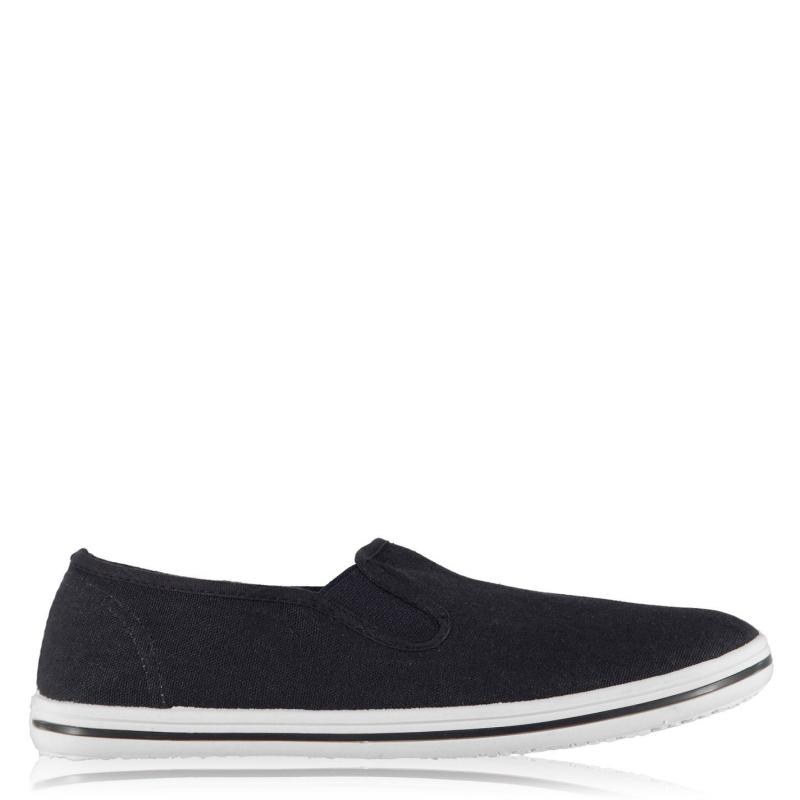 Boty Slazenger Slip On Junior Canvas Shoes Navy