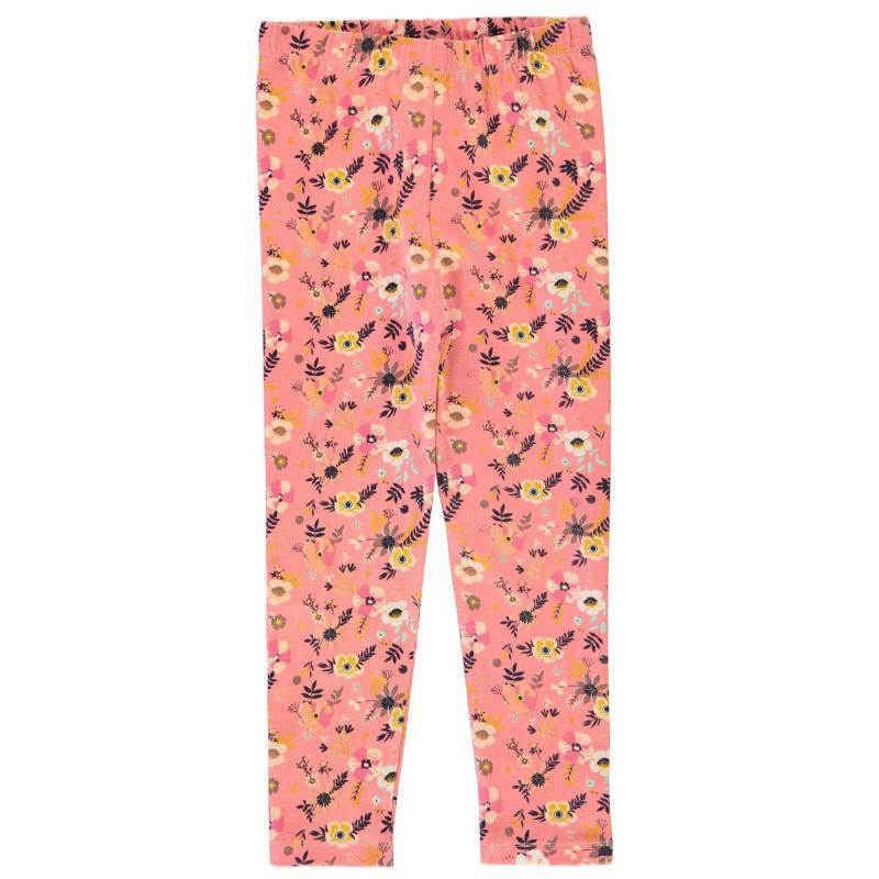 Crafted Essentials Pink Leggings Girls Junior Pink Floral