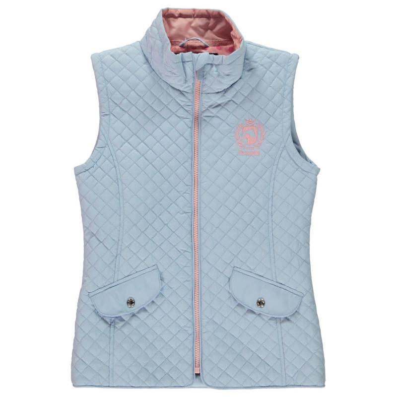 Requisite Girls Quilted Gilet Blue