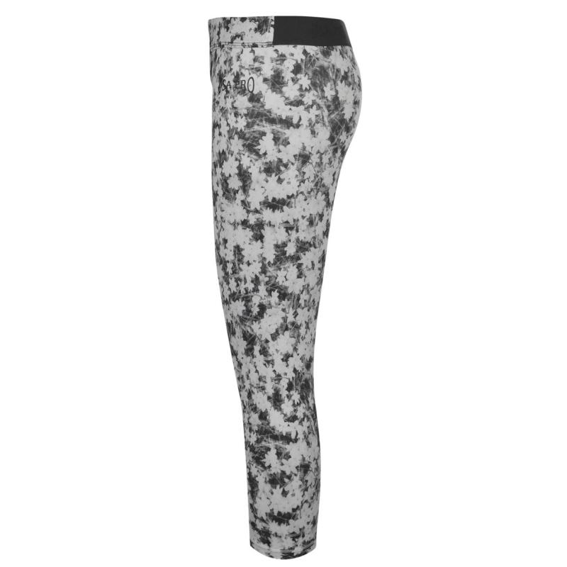 USA Pro Training Capri Tights Junior Girls Mono Floral