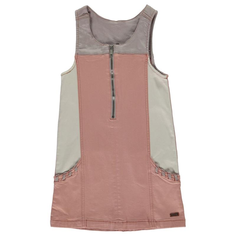 Šaty Firetrap Den Pinafore Dress Junior Girls Rose Cloud