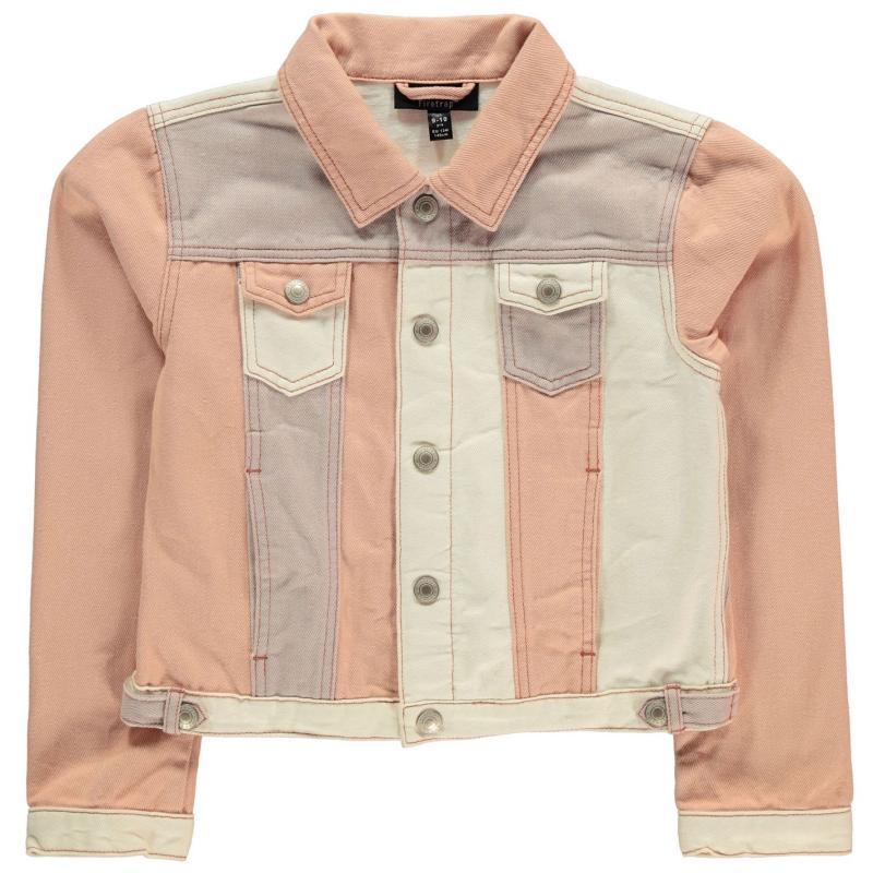 Firetrap Denim Jacket Junior Girls Rose Cloud