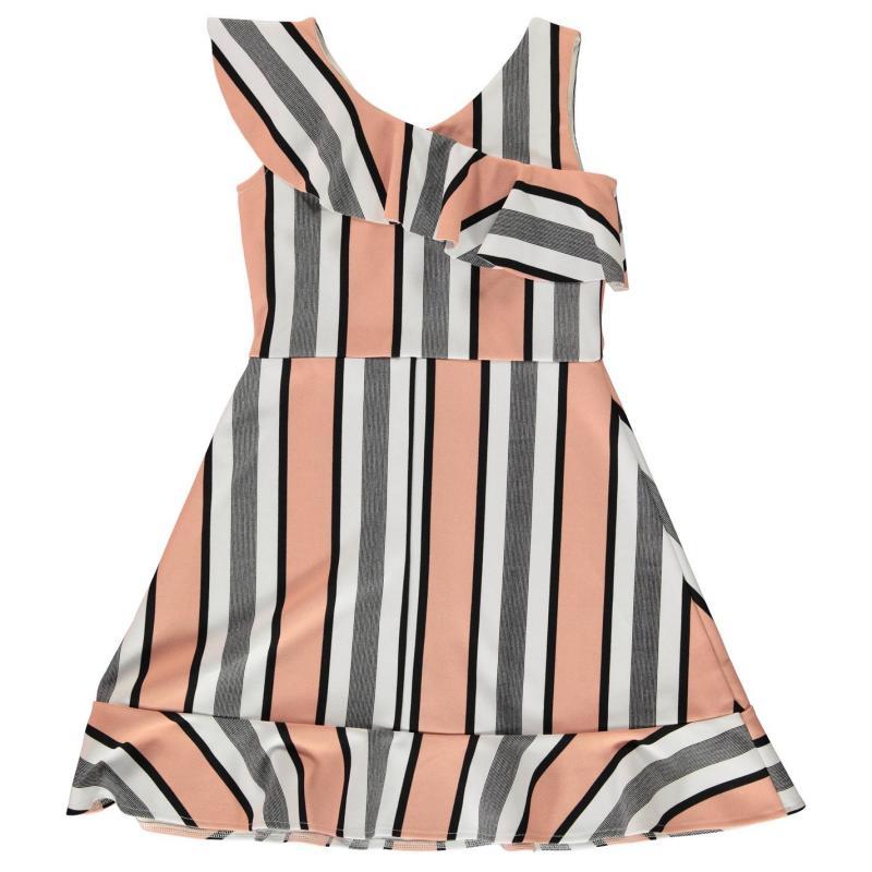 Šaty Firetrap Frill Dress Junior Girls Rose Stripe