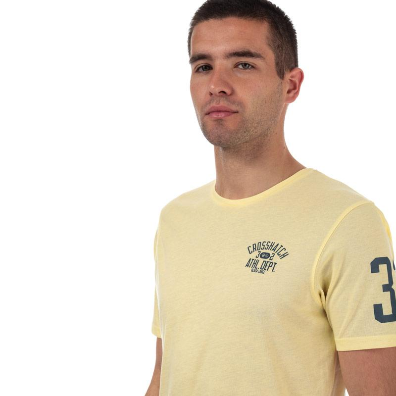 Tričko Crosshatch Black Label Mens Oplemon T-Shirt Blue Marl