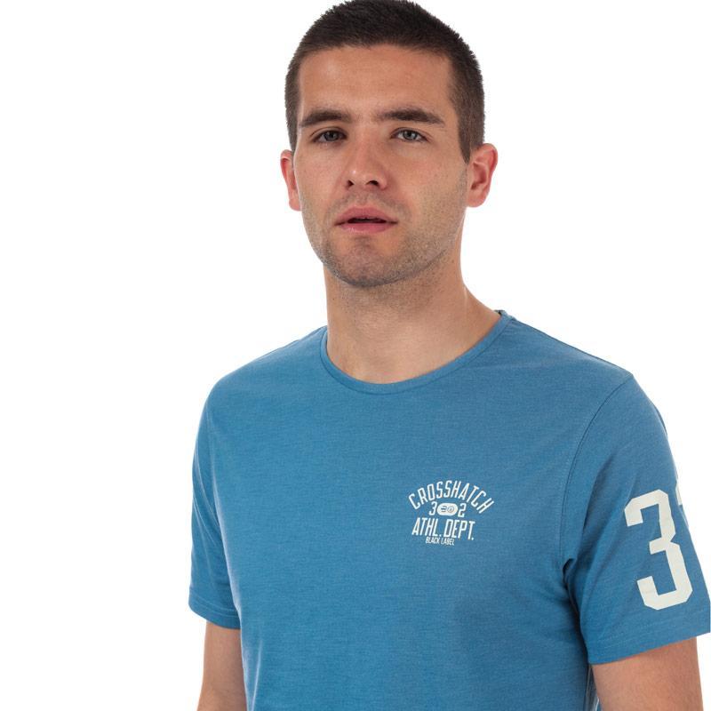 Tričko Crosshatch Black Label Mens Oplemon T-Shirt Navy