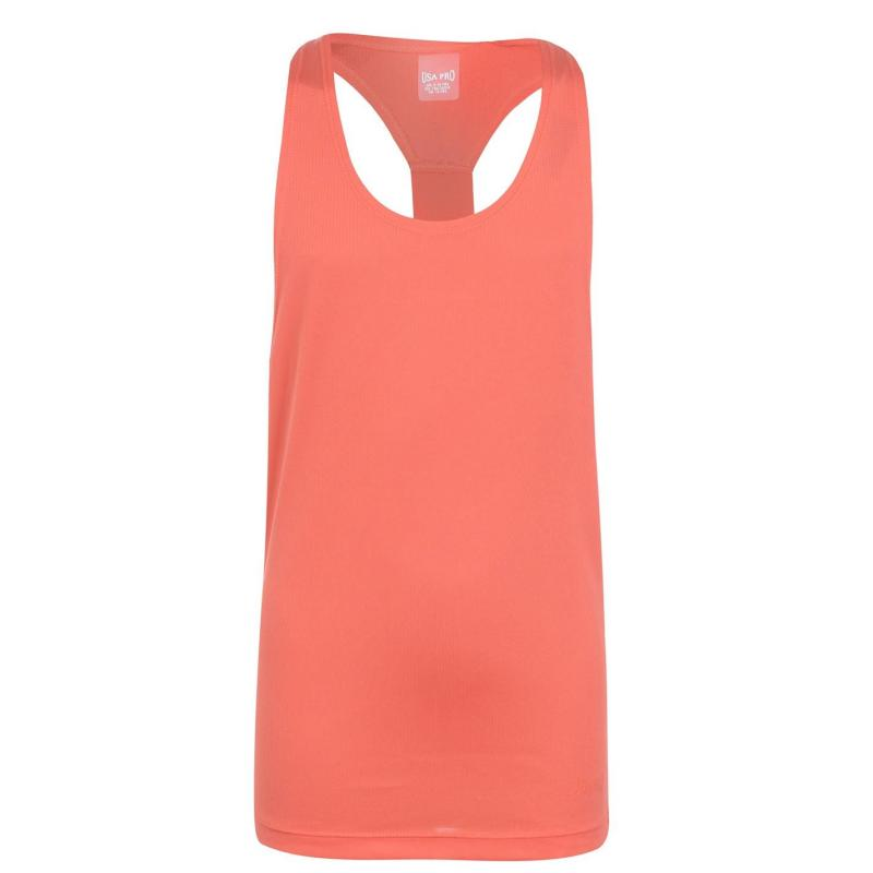 USA Pro Boyfriend Tank Top Junior Girls Coral