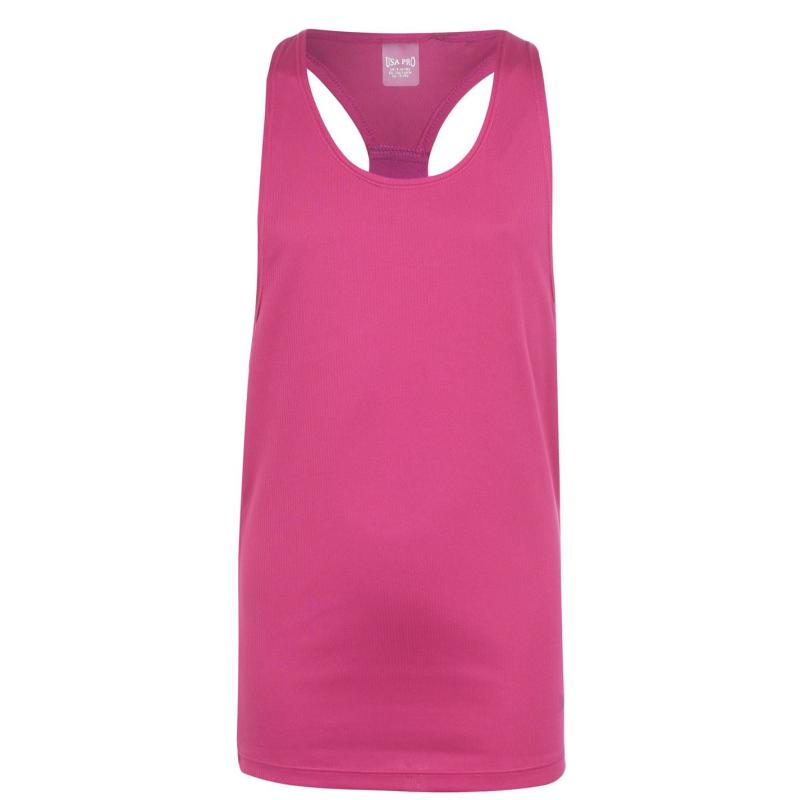 USA Pro Boyfriend Tank Top Junior Girls Berry