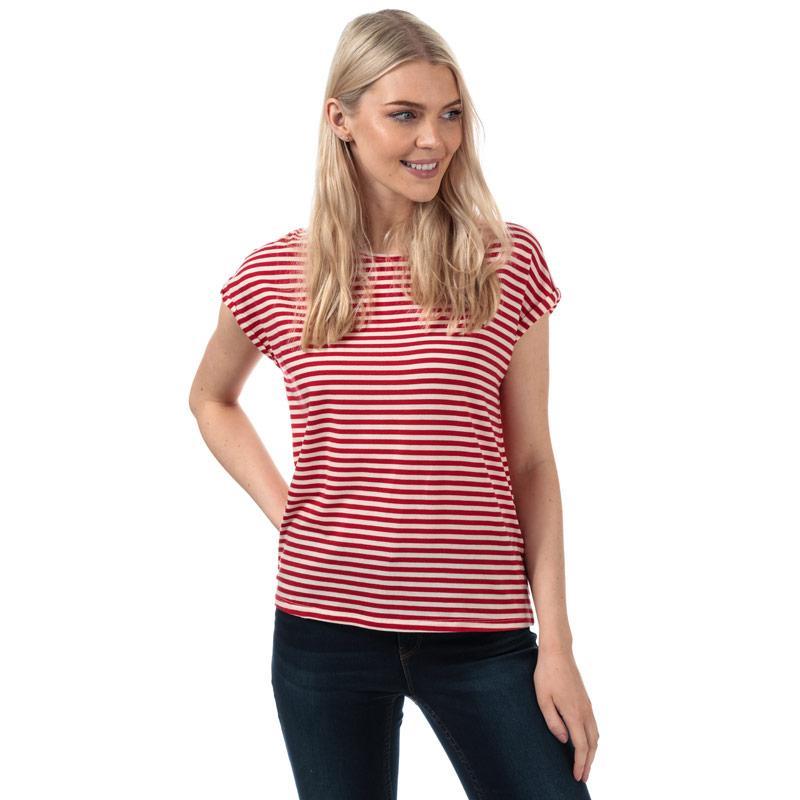 Vero Moda Womens Ava Striped T-Shirt Khaki