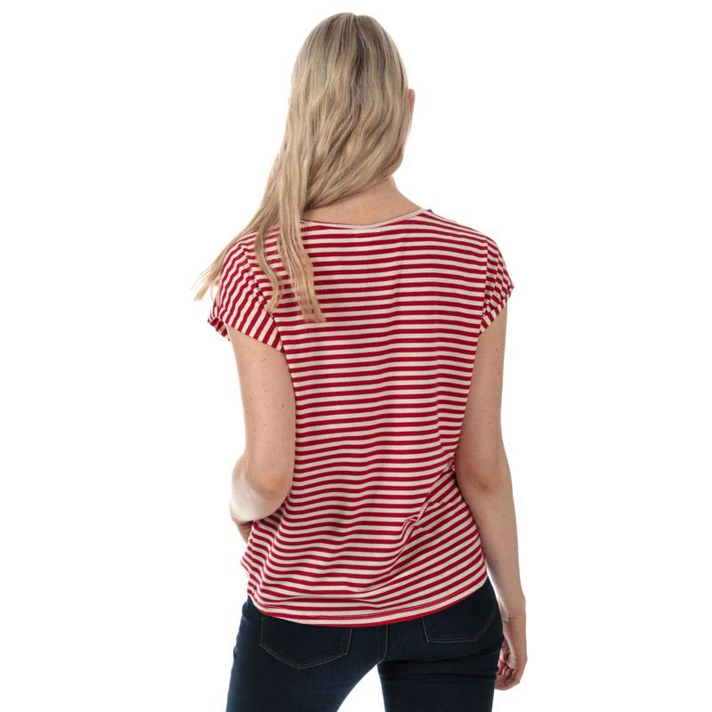 Vero Moda Womens Ava Striped T-Shirt Red
