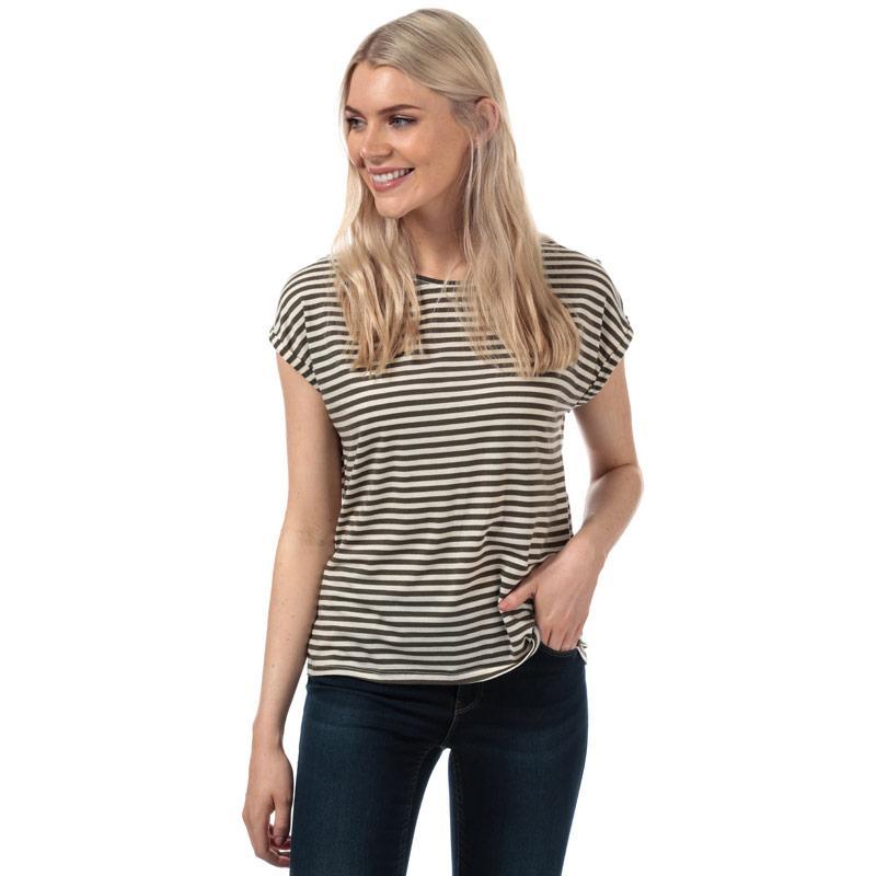 Vero Moda Womens Ava Striped T-Shirt Black-White