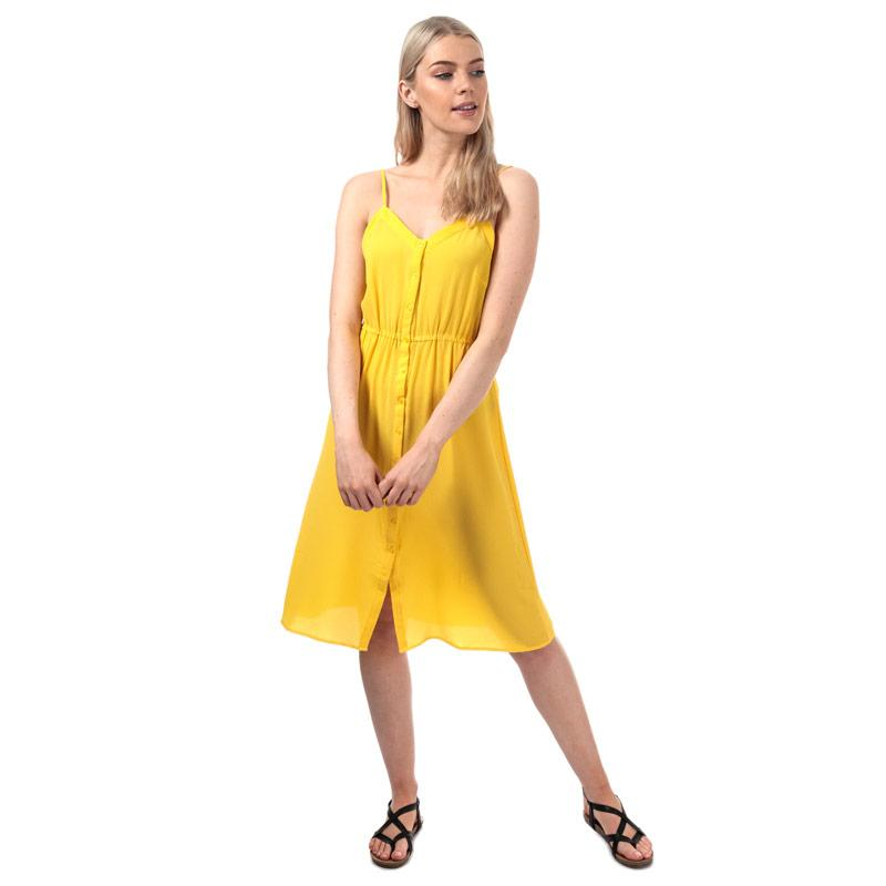 Šaty Vero Moda Womens Sasha Midi Dress Yellow