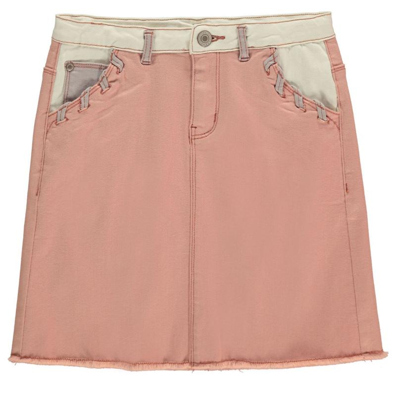 Firetrap Denim Mini Skirt Junior Girls Rose Cloud