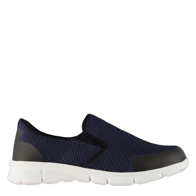 Slazenger Zeal Knit Mens Trainers Navy/Black