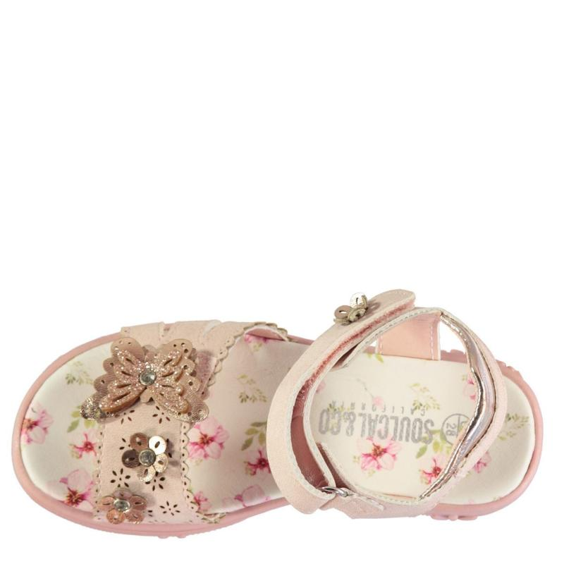 SoulCal Flowery Child Girls Sandals Pink