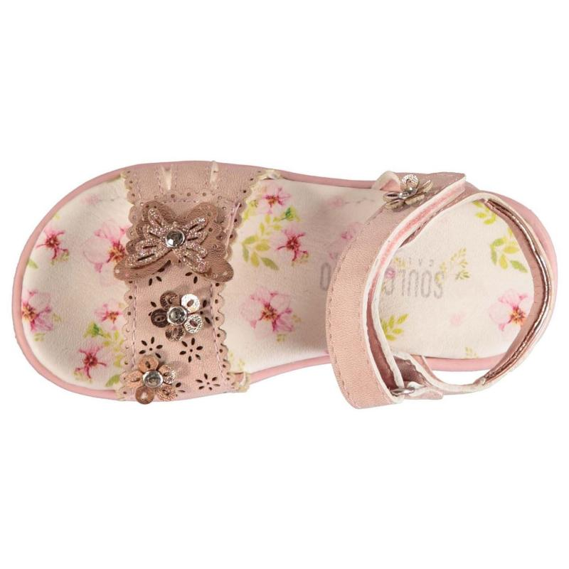 SoulCal Flowery Infant Girls Sandals Pink