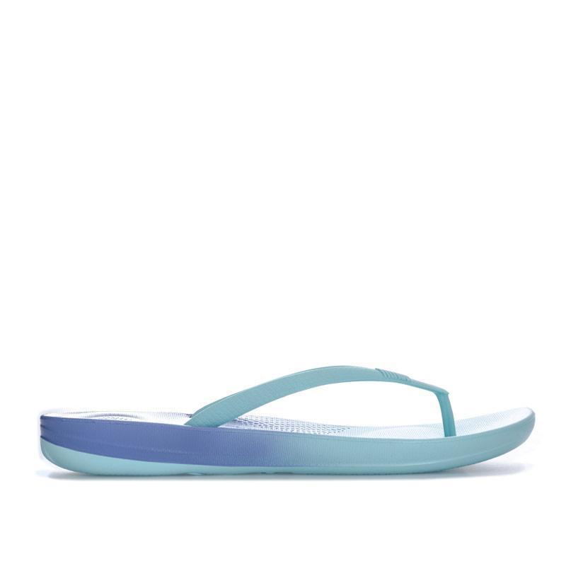 Boty Fit Flop Womens iQushion Ombre Ergonomic Flip Flops Blue