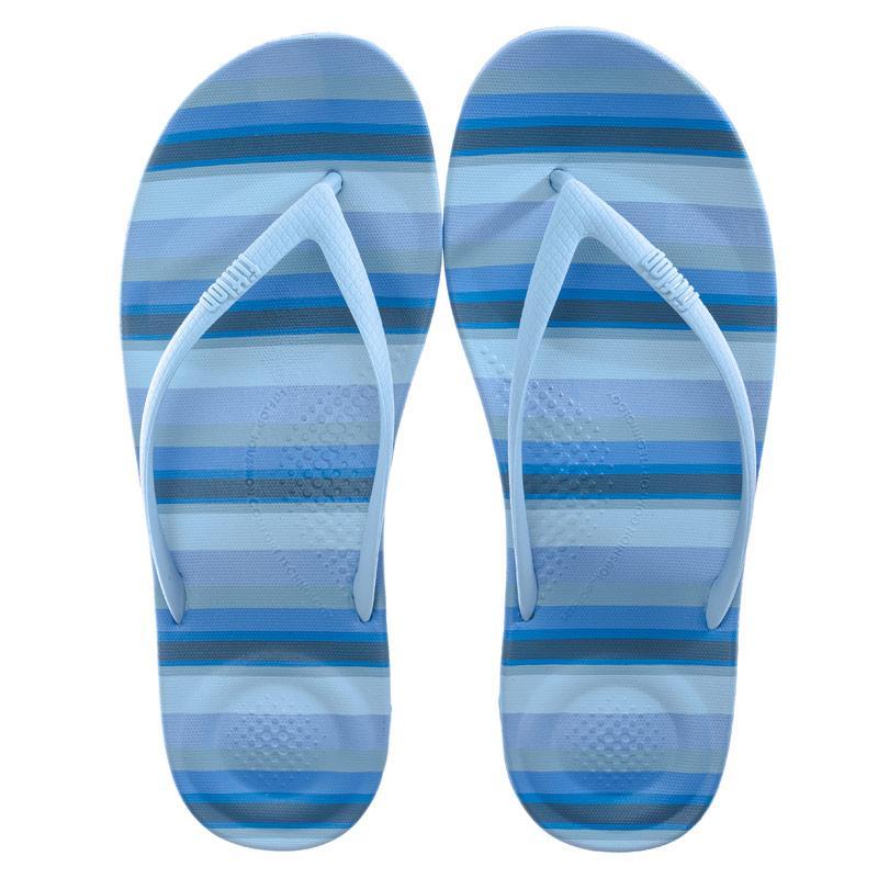 Boty Fit Flop Womens iQushion Stripey Ergonomic Flip Flops Blue