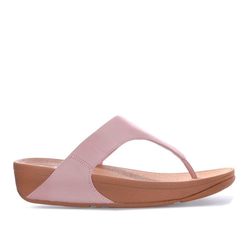 Boty Fit Flop Womens Lulu Leather Toe Thong Sandals Dusky Pink