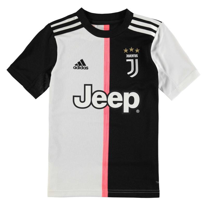 Adidas Juventus Home Shirt 2019 2020 Junior Black/White
