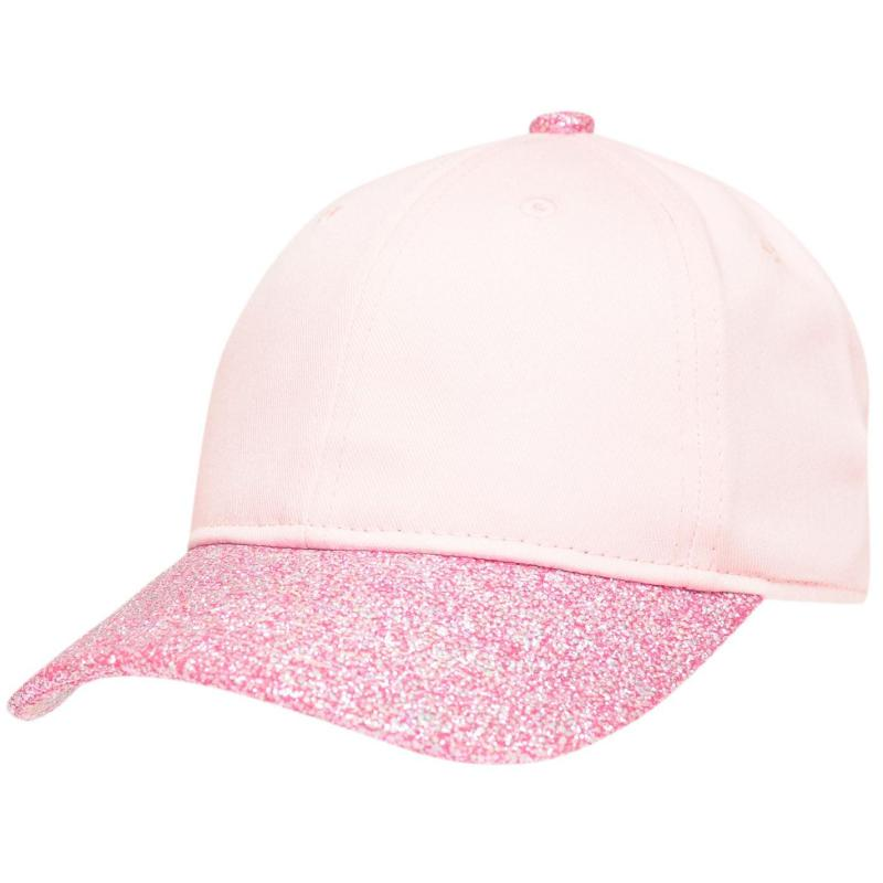 Crafted Bling Cap Junior Girls Glitter Peak
