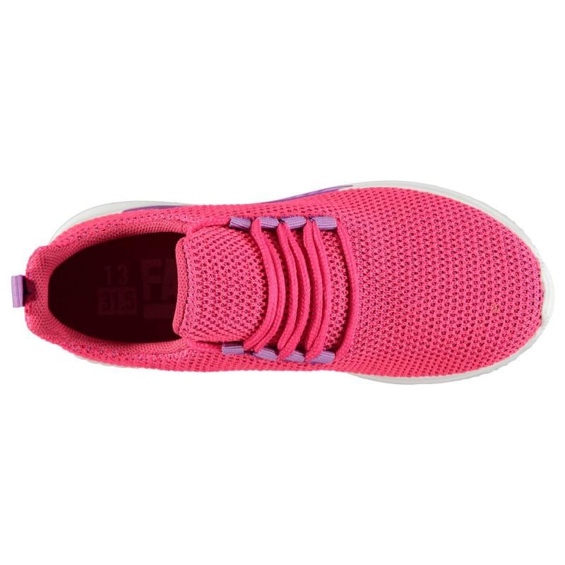Fabric Revel Run Childrens Trainers Pink
