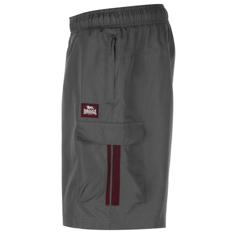 Lonsdale Cargo Shorts Mens Charcoal