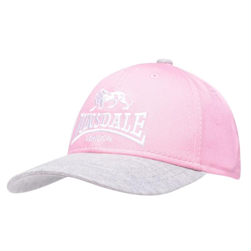 Lonsdale TT Cap Junior Pink/Grey