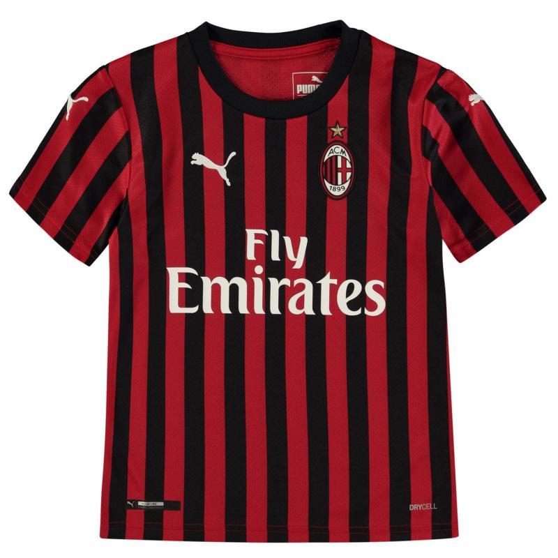 Puma AC Milan Home Shirt 2019 2020 Junior Red/Black
