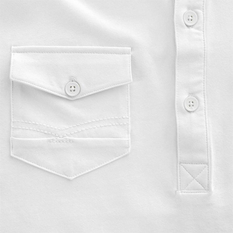 Firetrap Double Pocket Polo Men's White