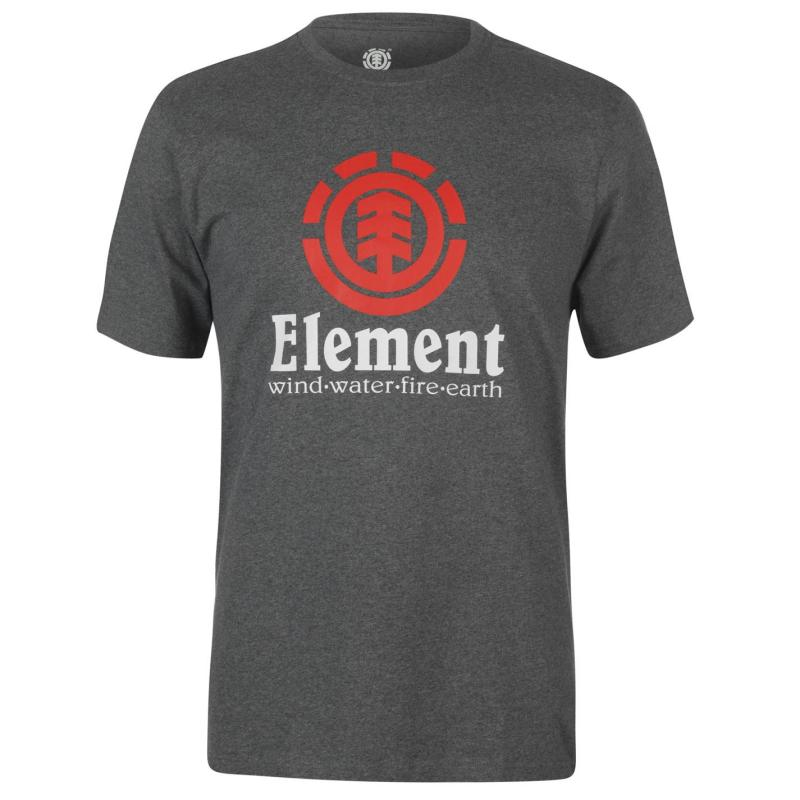 Tričko Element Element Vertical Short Sleeve T Shirt Mens Flame